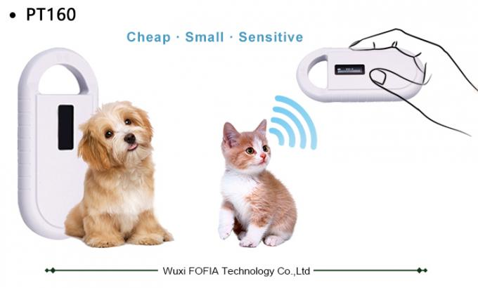 Pet Identification RFID Microchip Scanner For Dog / Cat , Handheld RFID Scanner 0